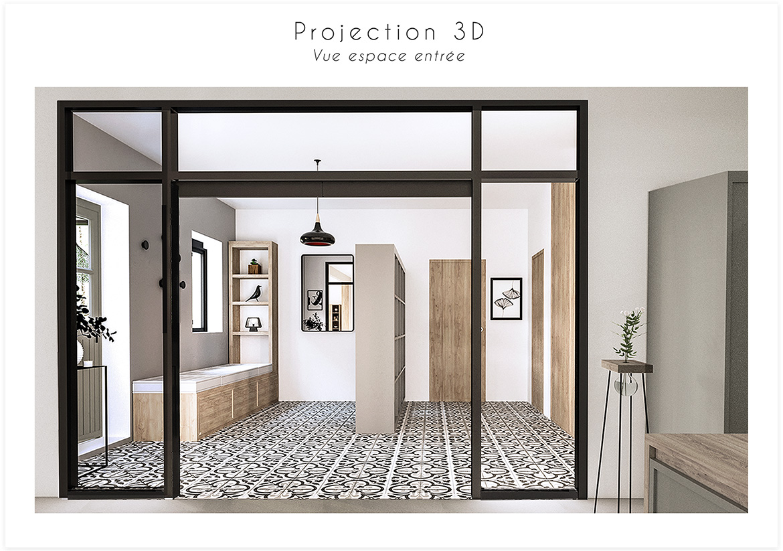 Aménagement et décoration d'une maison de campagne près d'Aix en Provence - Protection 3D