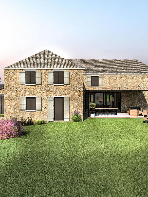 Aménagement et décoration d'une maison de campagne près d'Aix en Provence