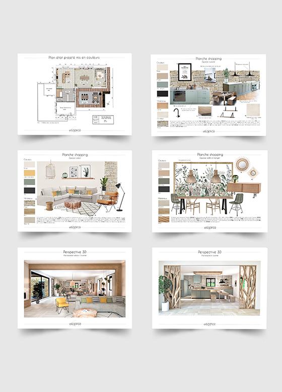 Dossier de décoration d'intérieur