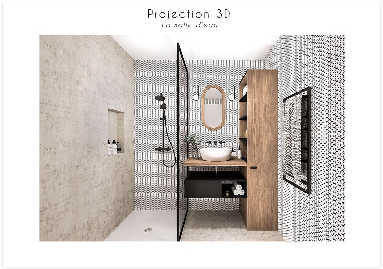 Rénovation et optimisation d'une salle d'eau - Planche d'ambian