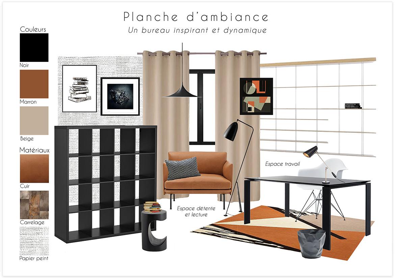 Rénovation d'une pièce de 17m carré - Planche d'ambiance