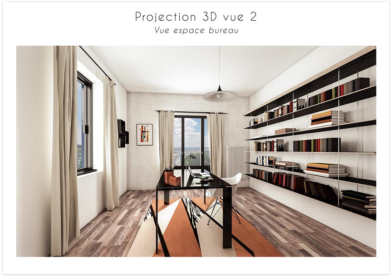 Rénovation d'une pièce de 17m carré - Projection 3D