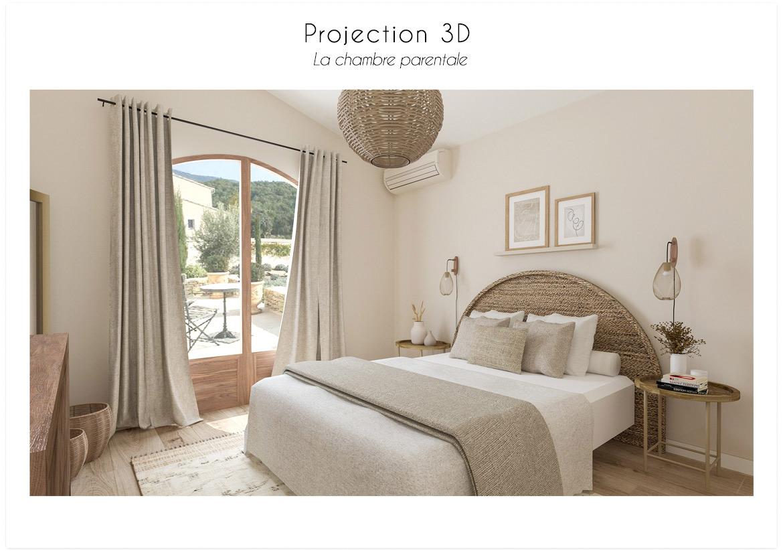 Projection 3D la chambre parentale