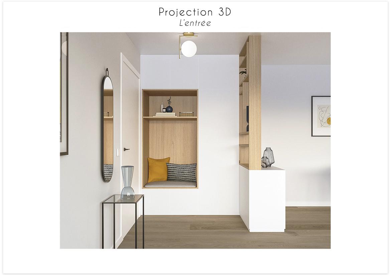 Projection 3D vue sur l'entrée 1