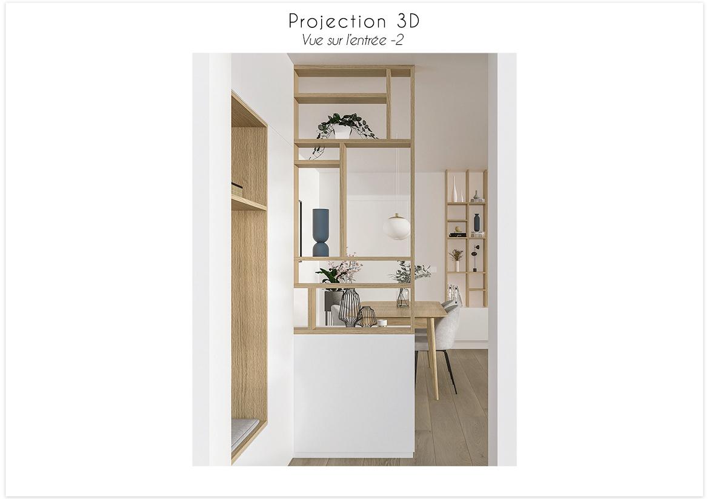 Projection 3D vue sur l'entrée 2